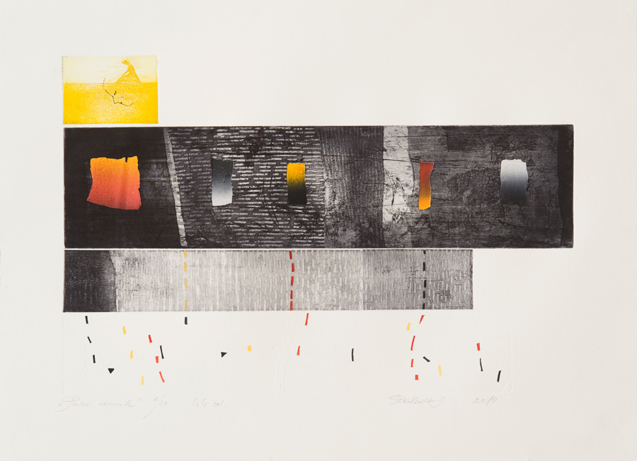 Irena Teresė Daukšaitė-Guobienė, Poetical moment, 2010, aquatint, etching, 37,5 x 56,5 cm.  From The Modern Art Center collection