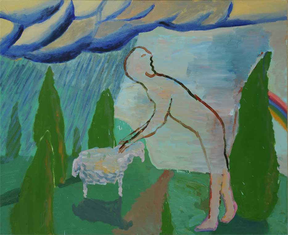 Vygantas Paukštė, Lost Lamb, 1994. Canvas, 90x110cm. From the MO Museum collection