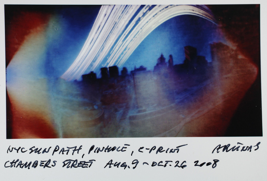 Arūnas Kulikauskas, NY Sunpath, 2007-2008, pinhole camera, 28 x 35,5 Photo by Vidas Poškus. From The Modern Art Center collection.