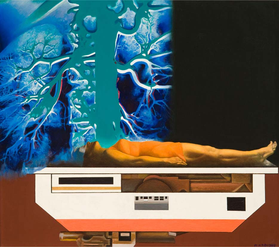 Marija Teresė Rožanskaitė, X-Ray, 1977, canvas, oil, 150 x 170 cm. From the MO museum collection.